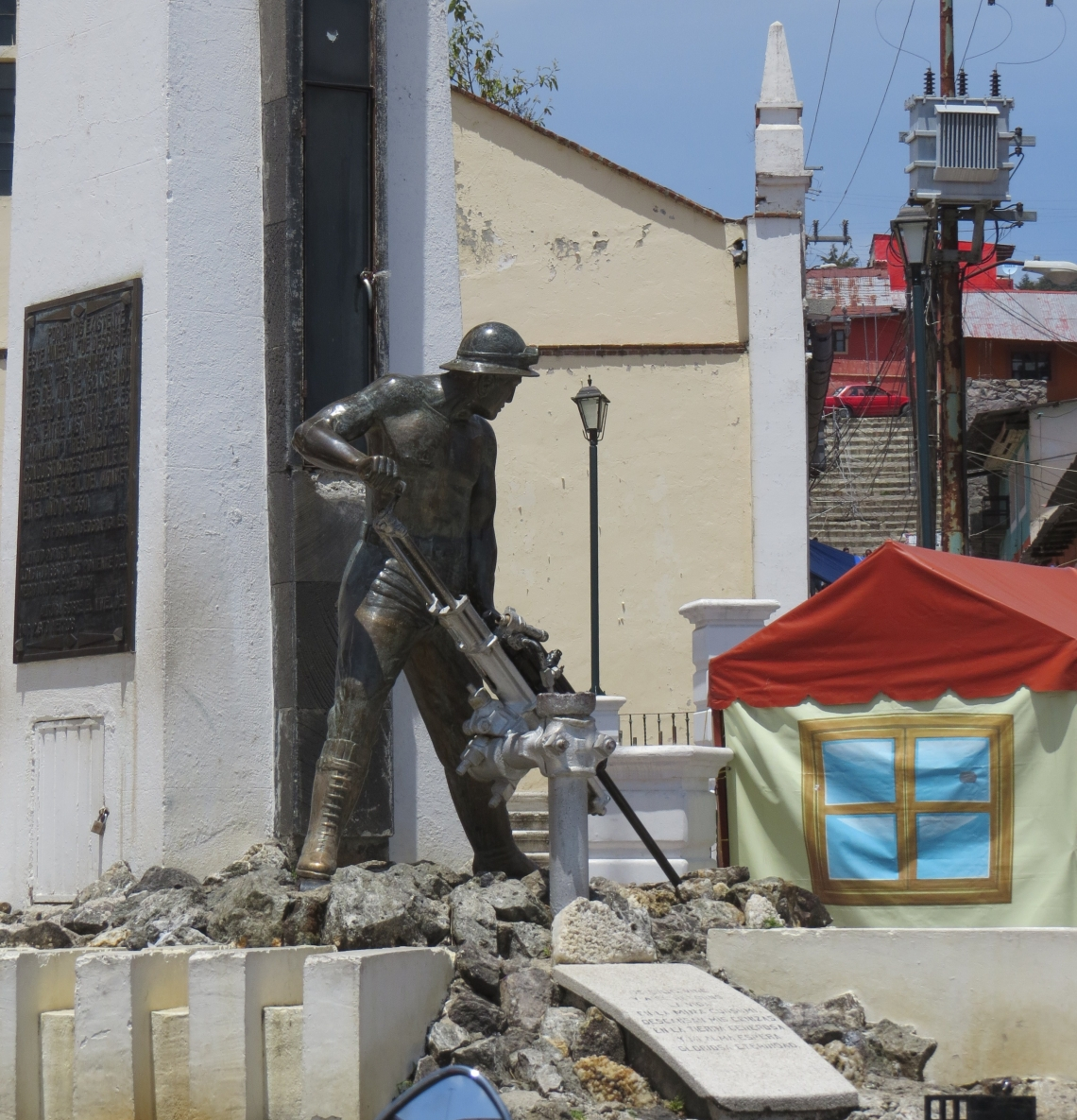 statue of a miner